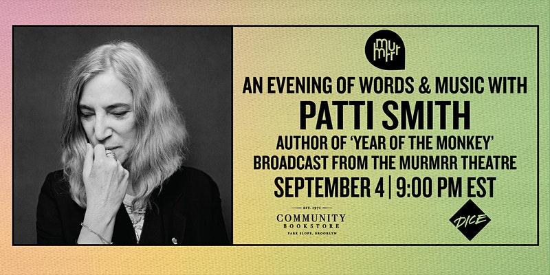 Concierto Livestream de Patti Smith.