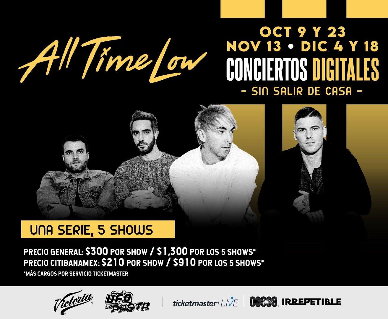 Cartelera Digital: Concierto Irrepetible All Time Low vía streaming