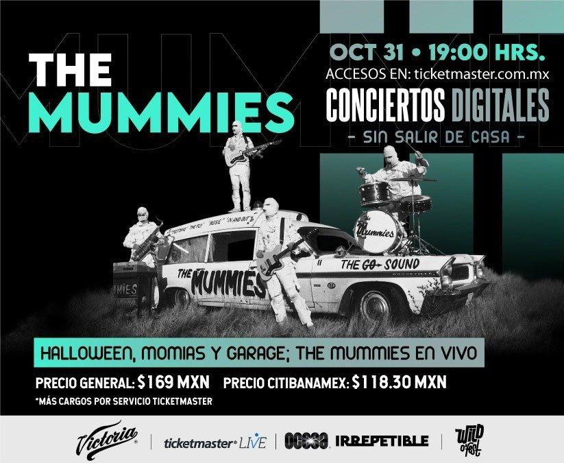Cartelera Digital 2020: Concierto Irrepetible The Mummies vía streaming.