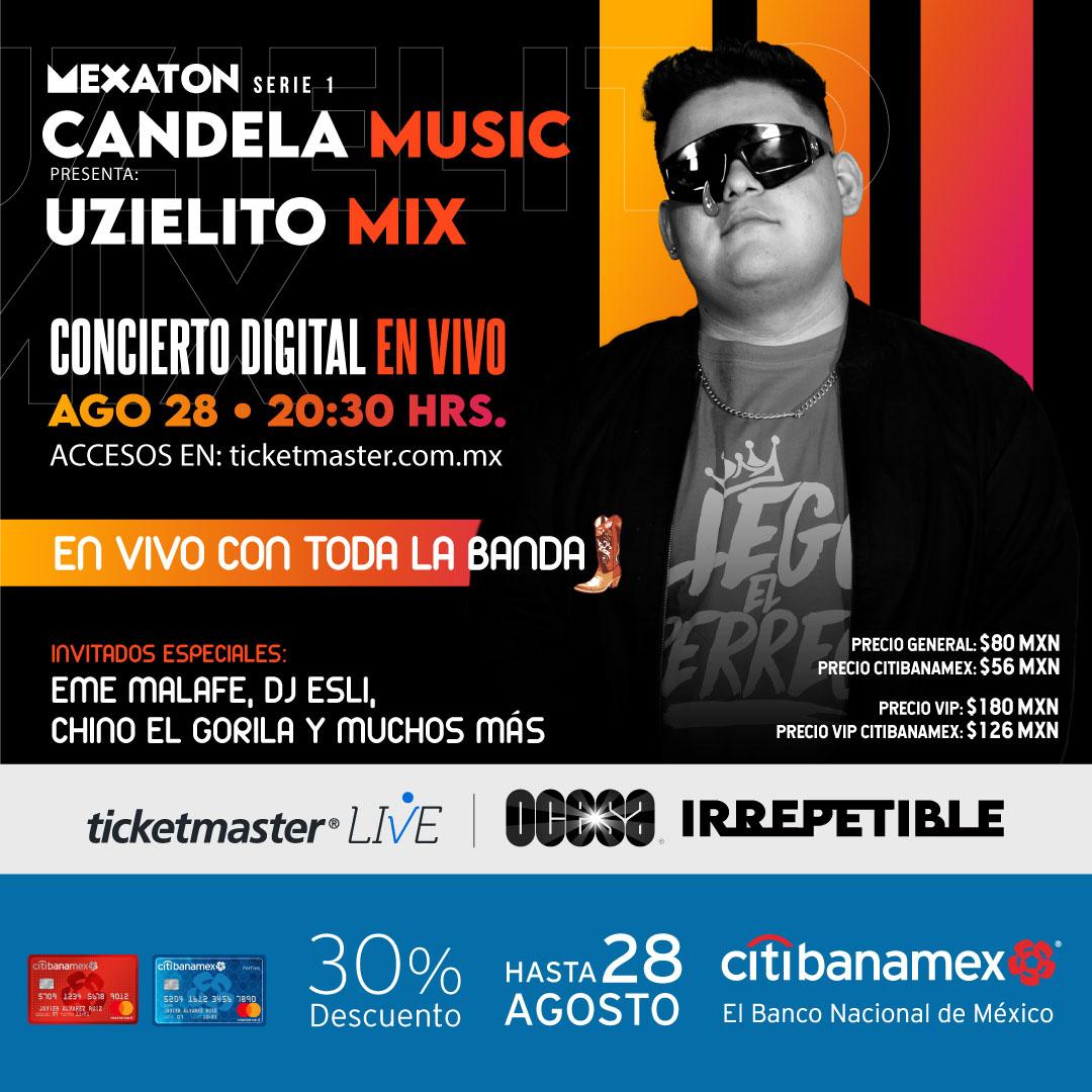 Boletos Uzielito Mix vía streaming