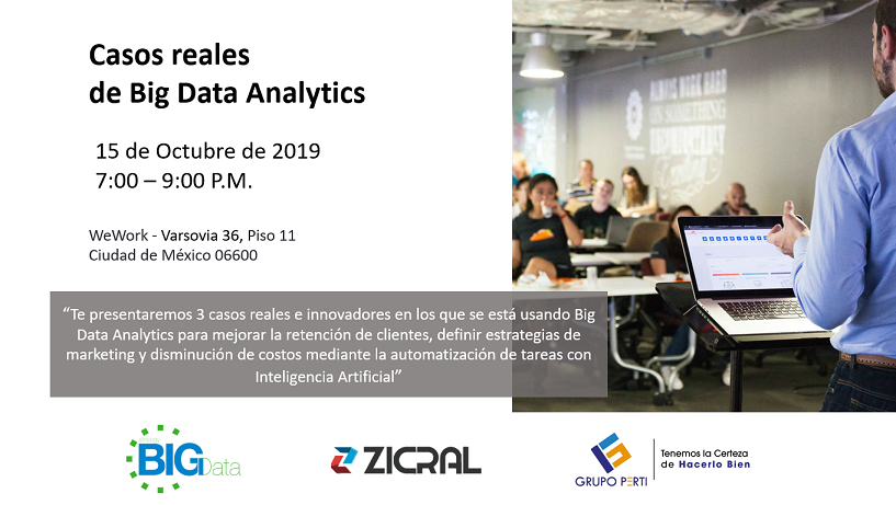 Casos reales de Big Data Analytics con startup española SBD