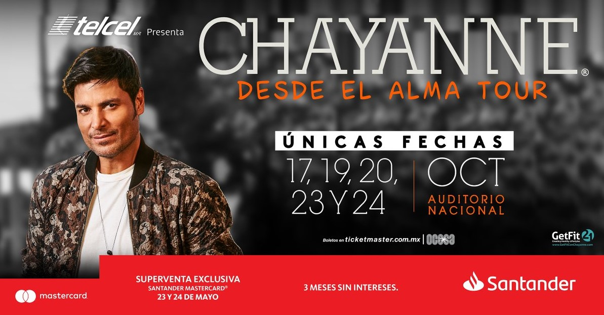 chayanne auditorio nacional 2018