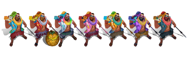 Chromas de Gangplank Veraniego League of Legends 2018