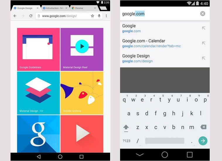 Google Chrome móvil en Android