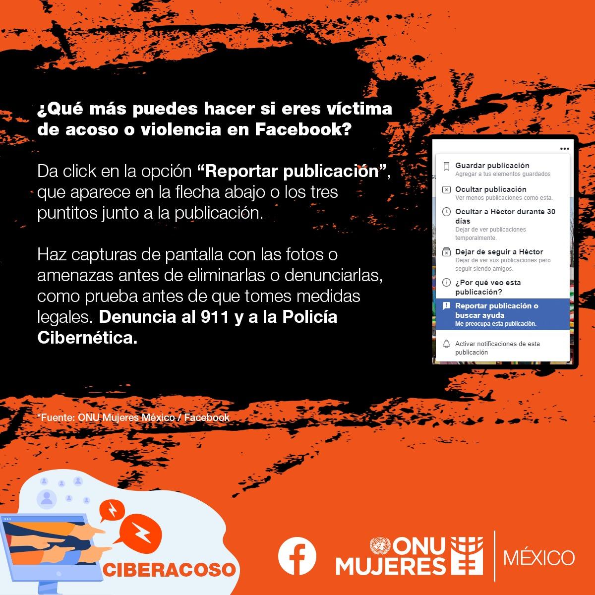 Qué hacer en caso de violencia digital en Facebook.