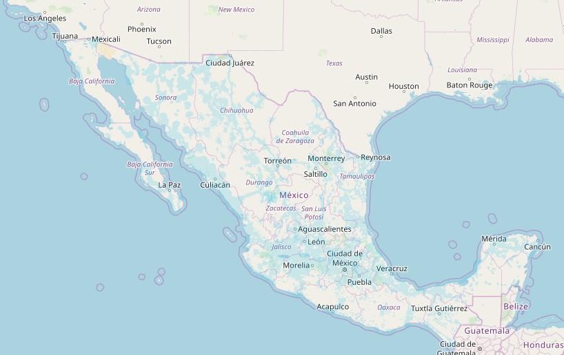 Mapa de cobertura AT&T, 3G y 4G LTE