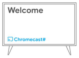 Anota el número de dispositivo Chromecast que aparece en tu TV.