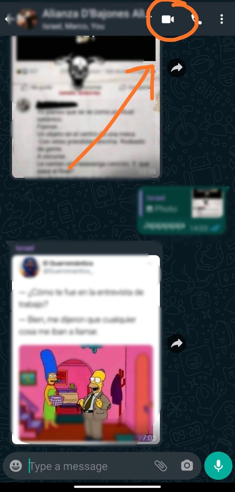 Videollamadas grupales Whatsapp: desde un chat grupal
