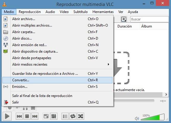 Usar VLC como convertidor