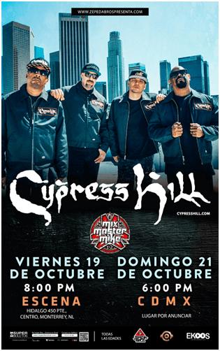 Cypress Hill en México octubre 2018