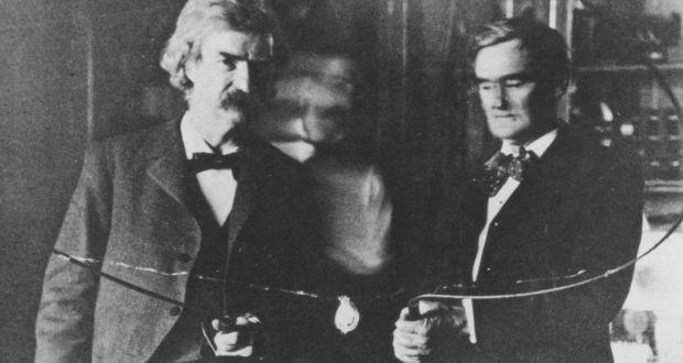 Nikola Tesla y Mark Twain