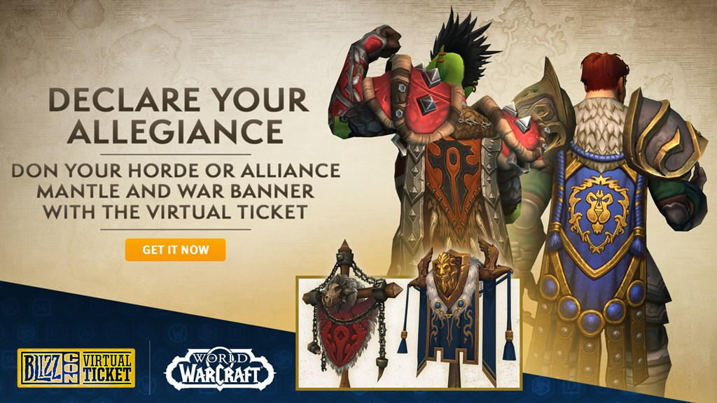 Recompensas para World of Warcraft de la BlizzCon 2018