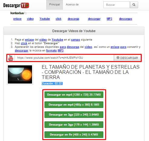 descargar video de youtube gratis