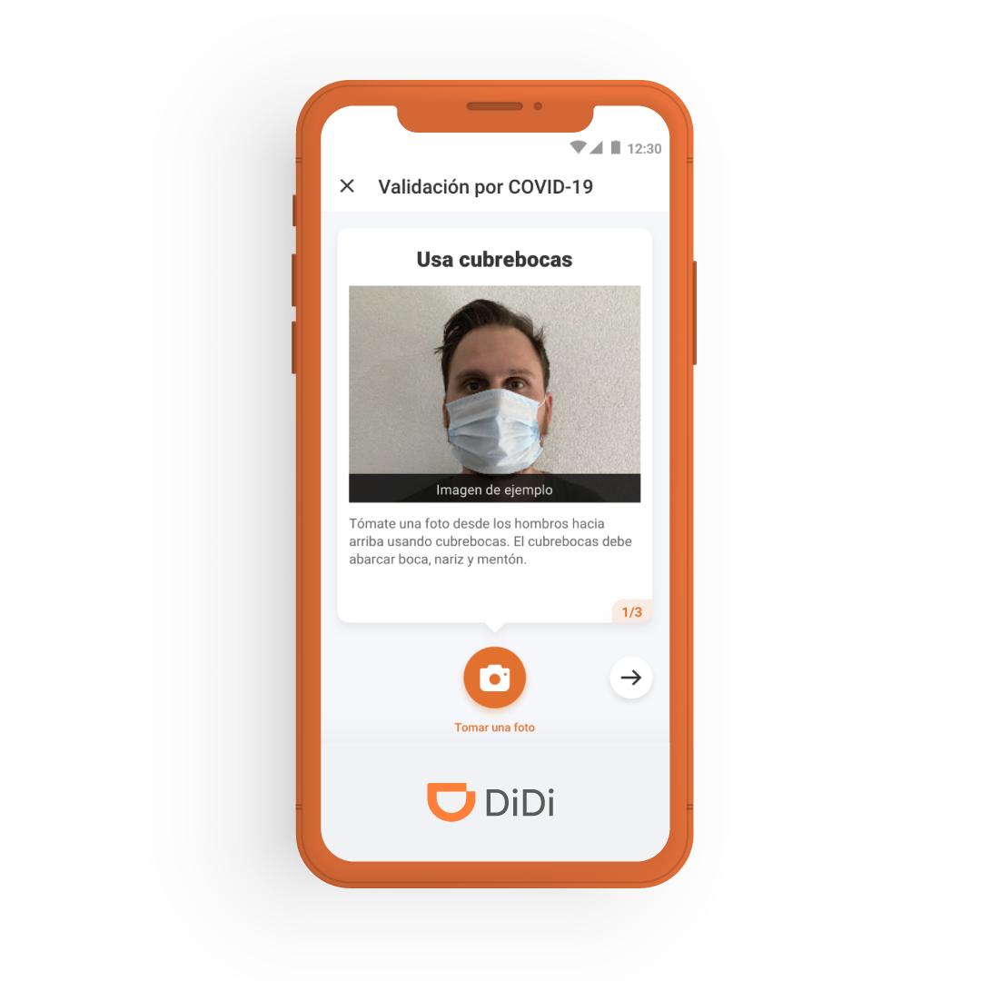 Didi Prevent usa AI para el uso de cubrebocas|PandaAncha.mx