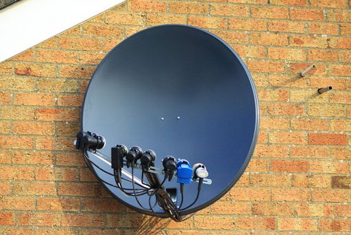 Antena para internet satelital