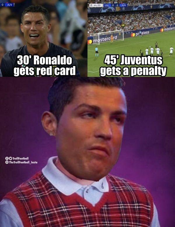 Memes Cristiano Ronaldo expulsado