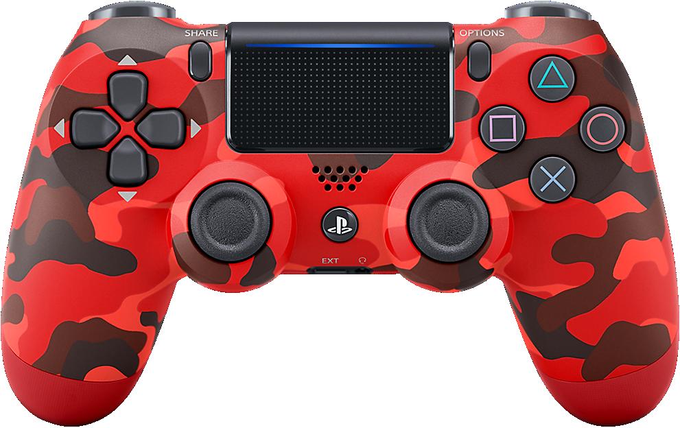 Control Dualshock 4 Camuflaje Rojo