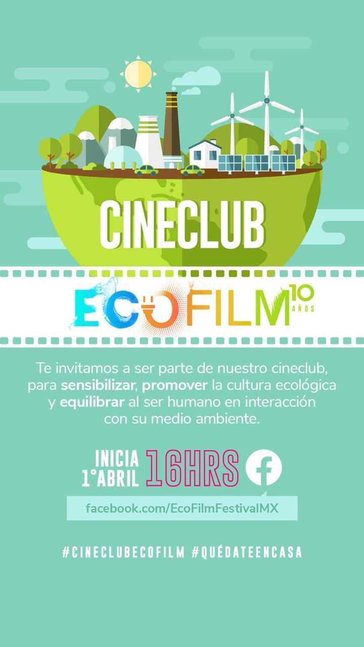 ECOFILM celebra cine club ambiental en línea por cuarentena
