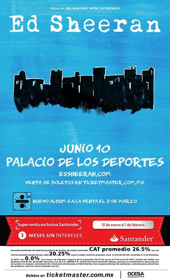 Póster oficial del concierto en la Ciudad de México