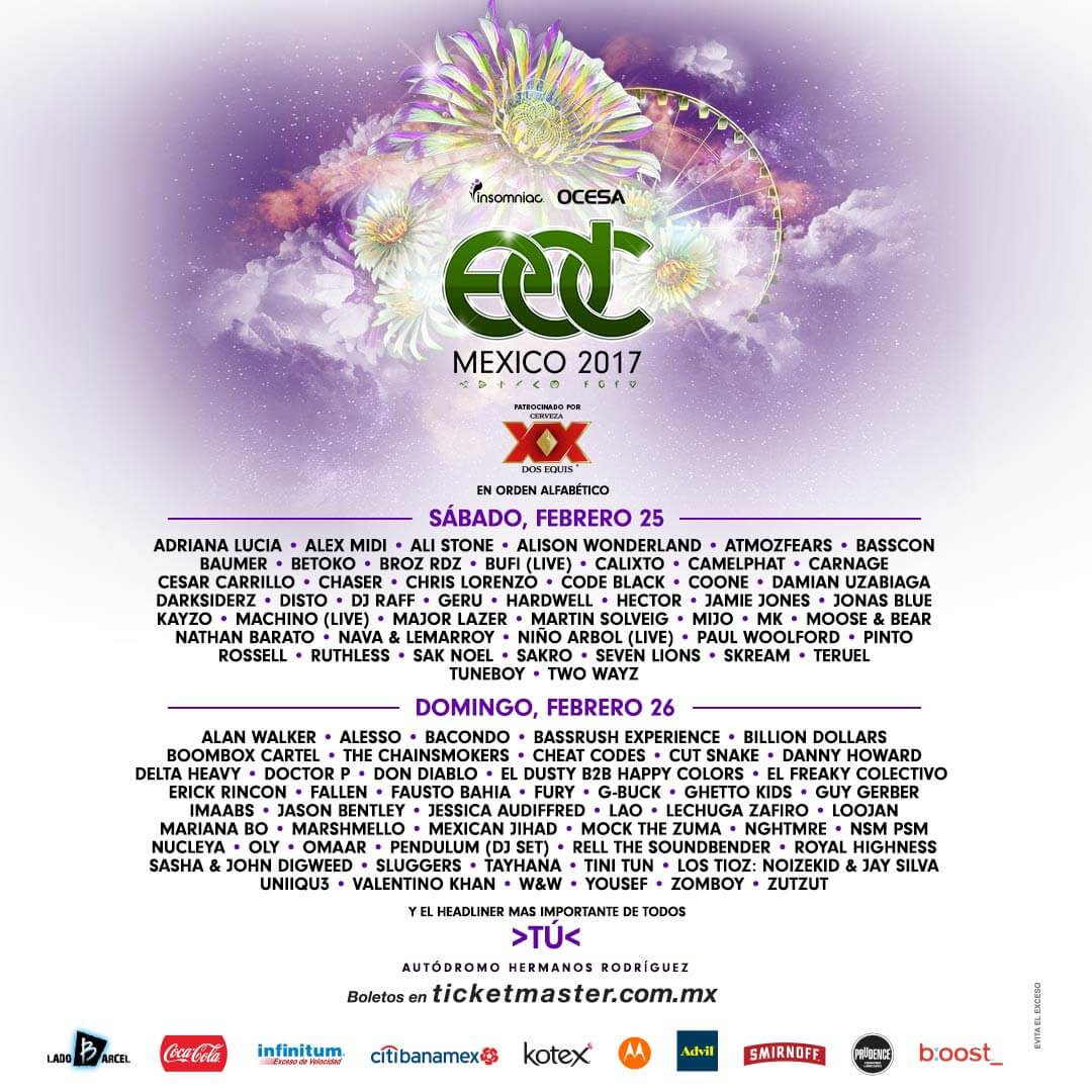 Cartel oficial del festival EDC