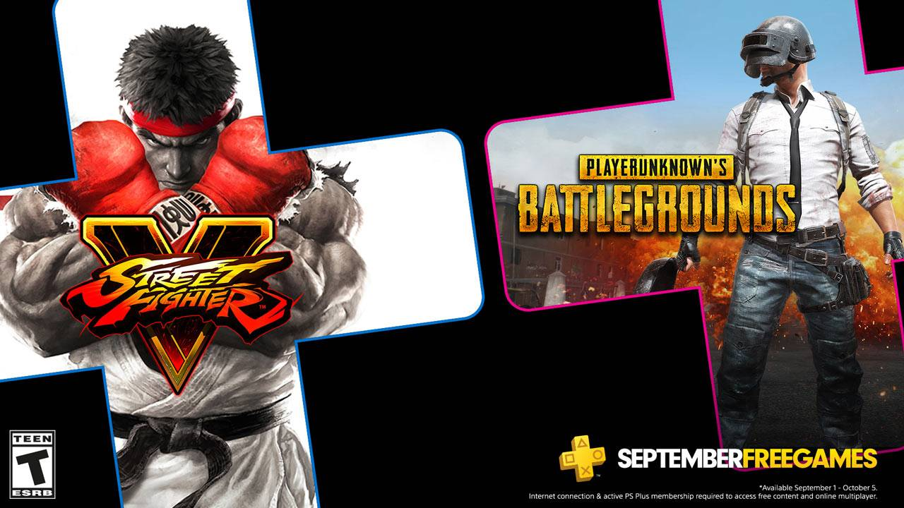 Juegos gratis de PS Plus en Septiembre 2020: PUBG y Street Fighter V