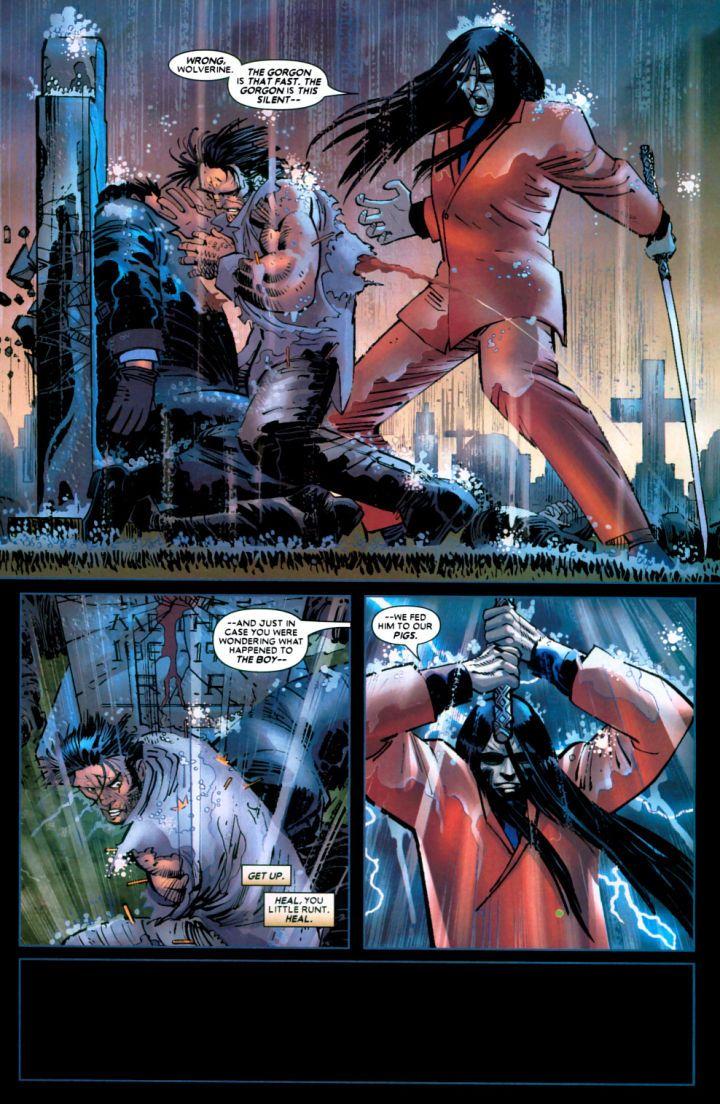 Wolverine es apuñalado hasta su muerte