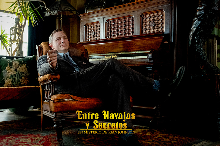 Daniel Craig como Benoit Blanc en Entre Navajas y Secretos