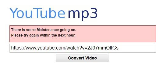 YouTube-MP3 pierde demanda error