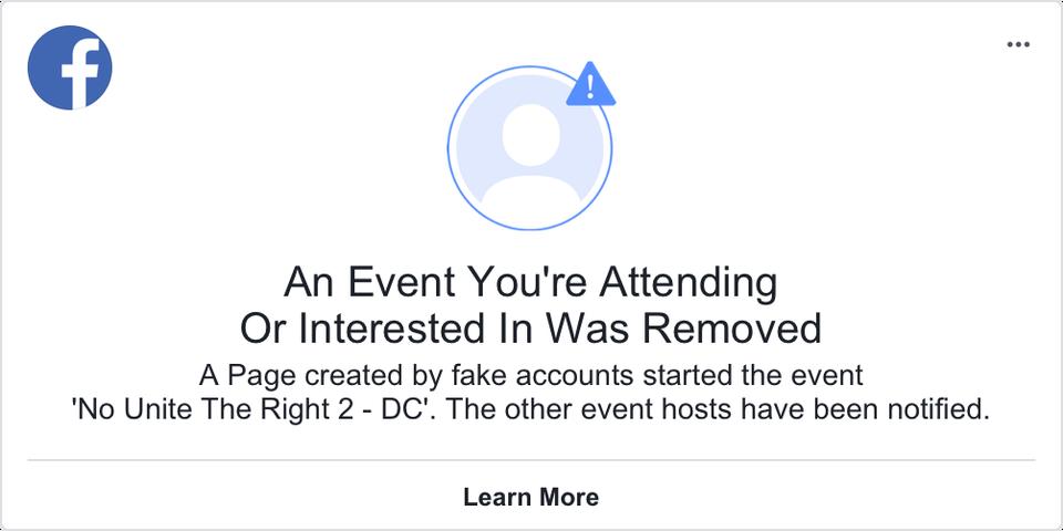 Facebook cancela evento cuentas falsas