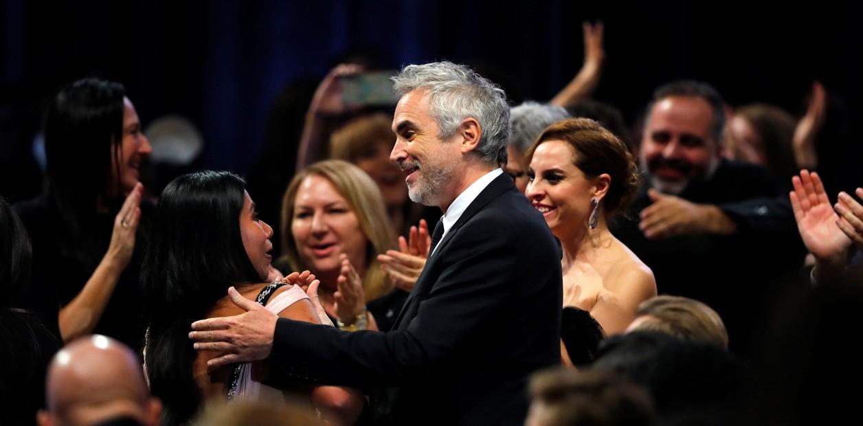 Alfonso Cuarón y Yalitza Aparicio en los Critic's Choice Awards 2019