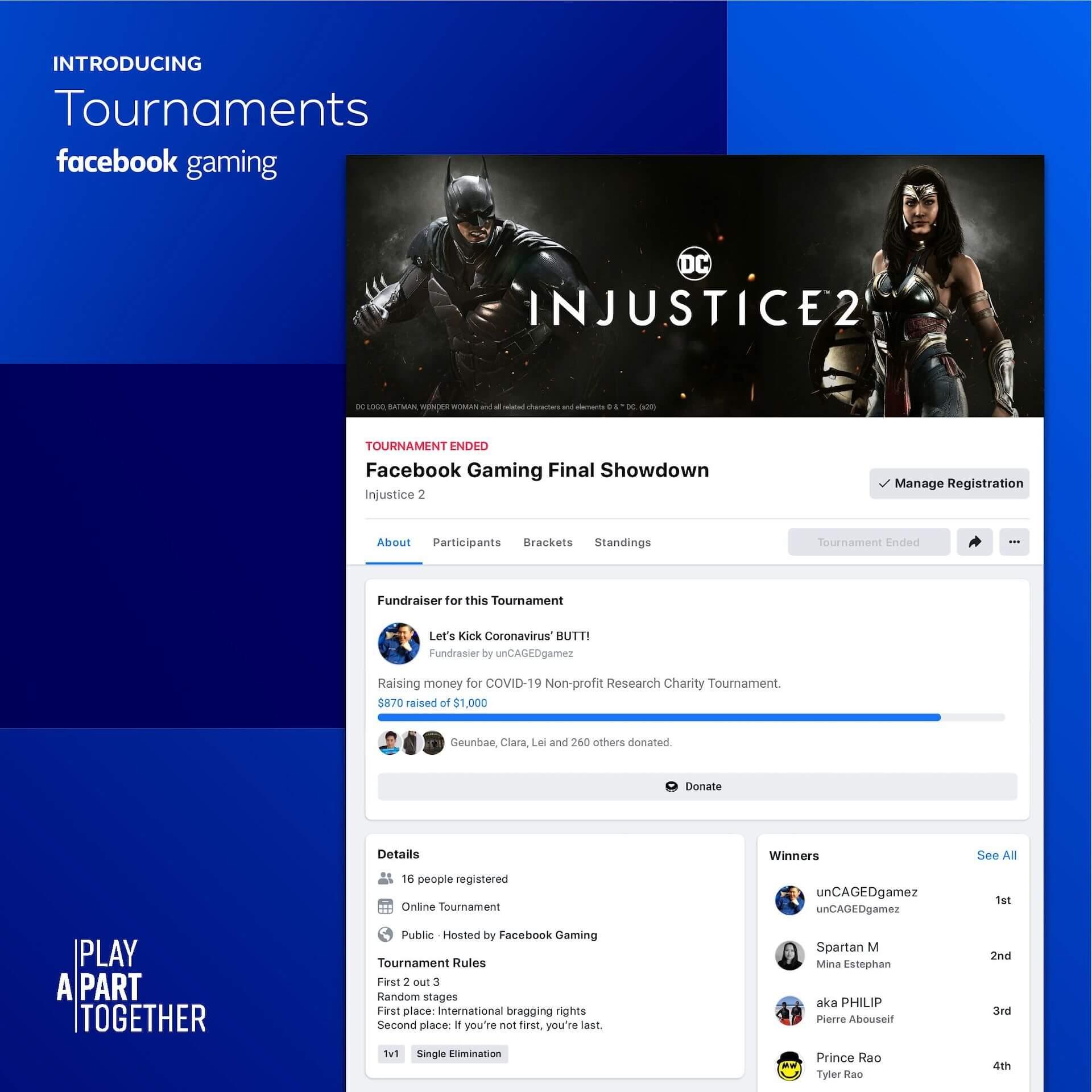 Facebook Gaming: aprende cómo crear torneos