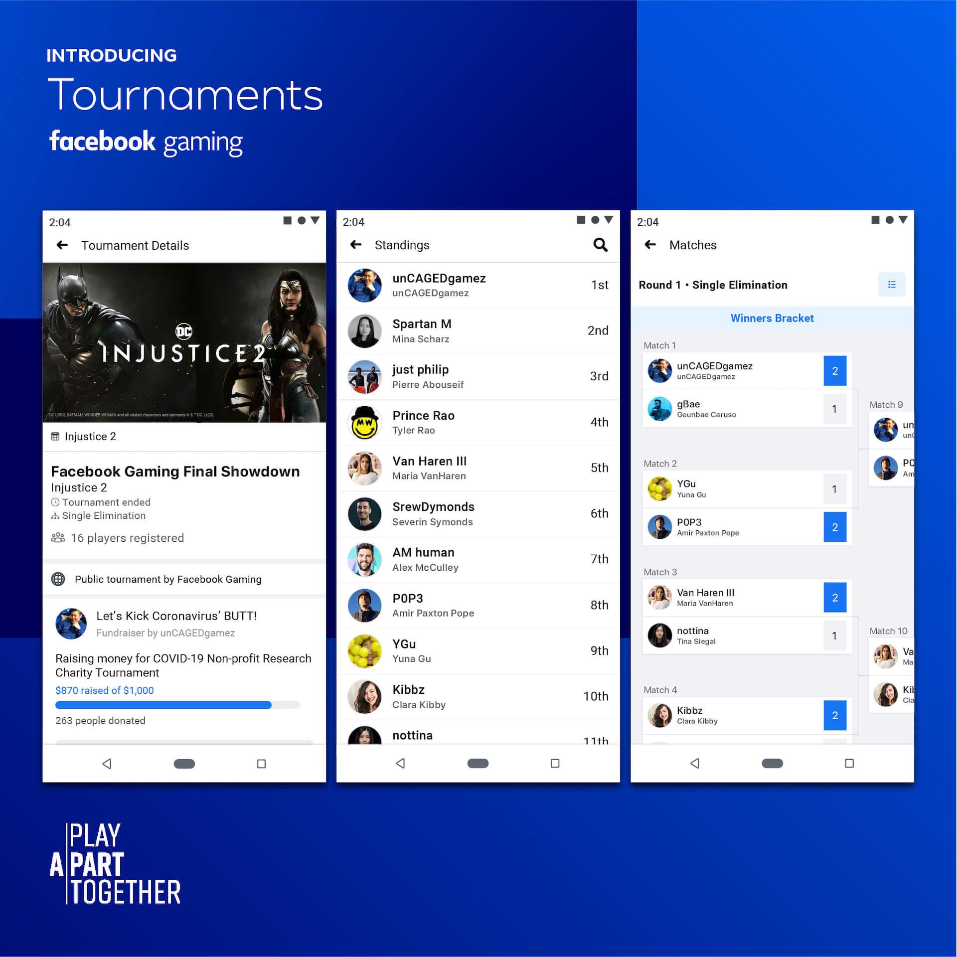 Cualquiera puede organizar y unirse a un torneo en Facebook Gaming.