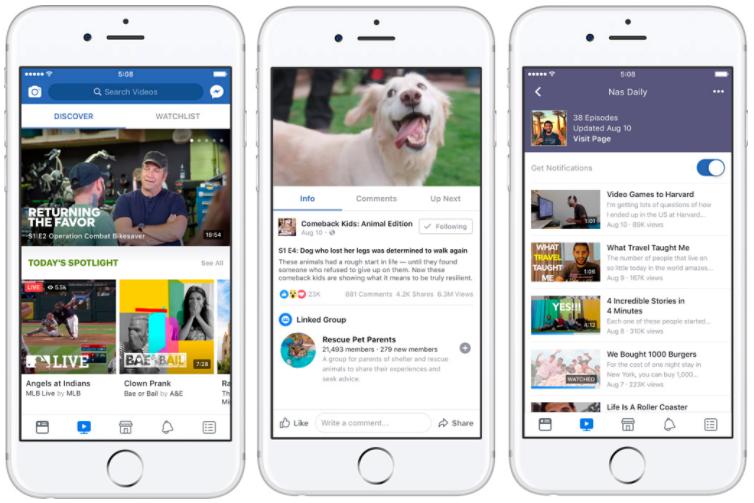 Facebook Watch en iOS
