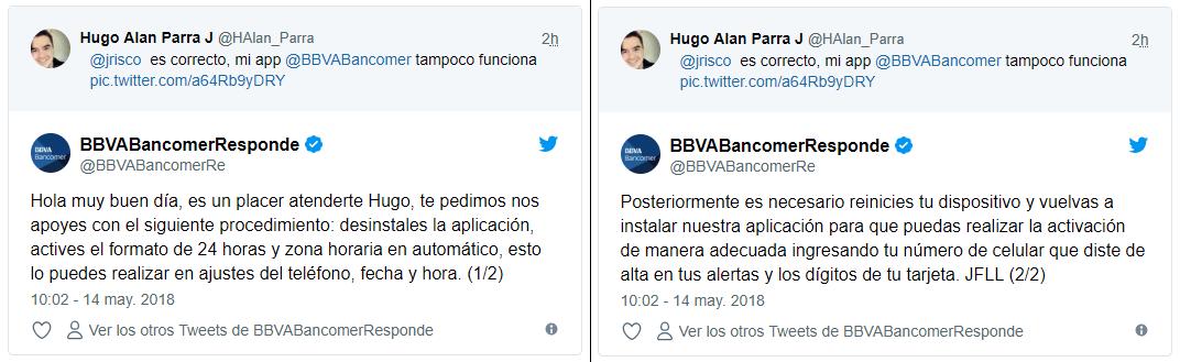 falla app de Bancomer