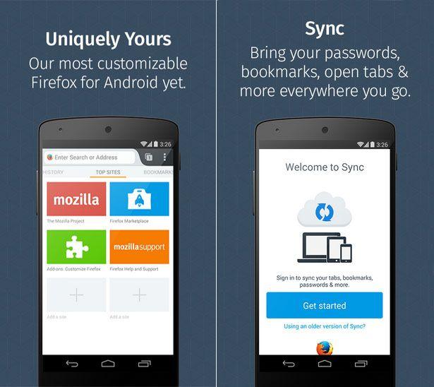 Firefox móvil en Android