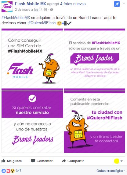 Screenshot Facebook Flash Mobile México