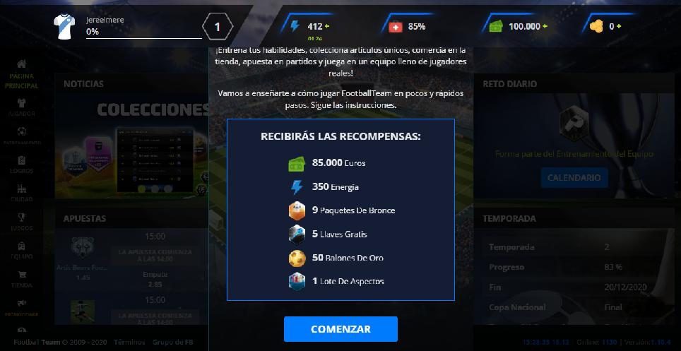 FootballTeam: el nuevo juego de manager de futbol