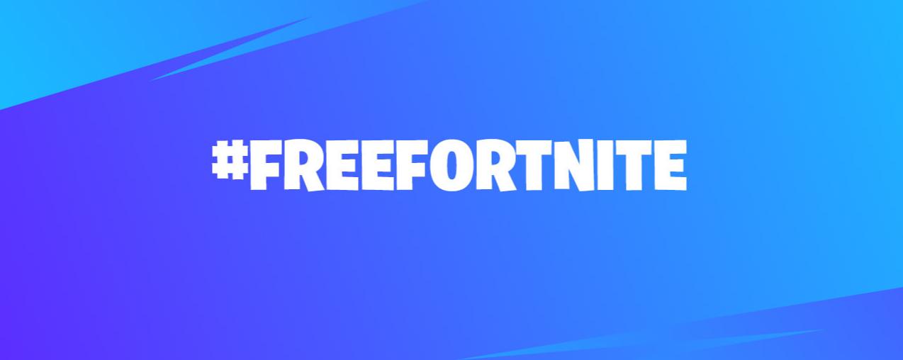Expresa tu inconformidad con #FreeFortnite en redes sociales.