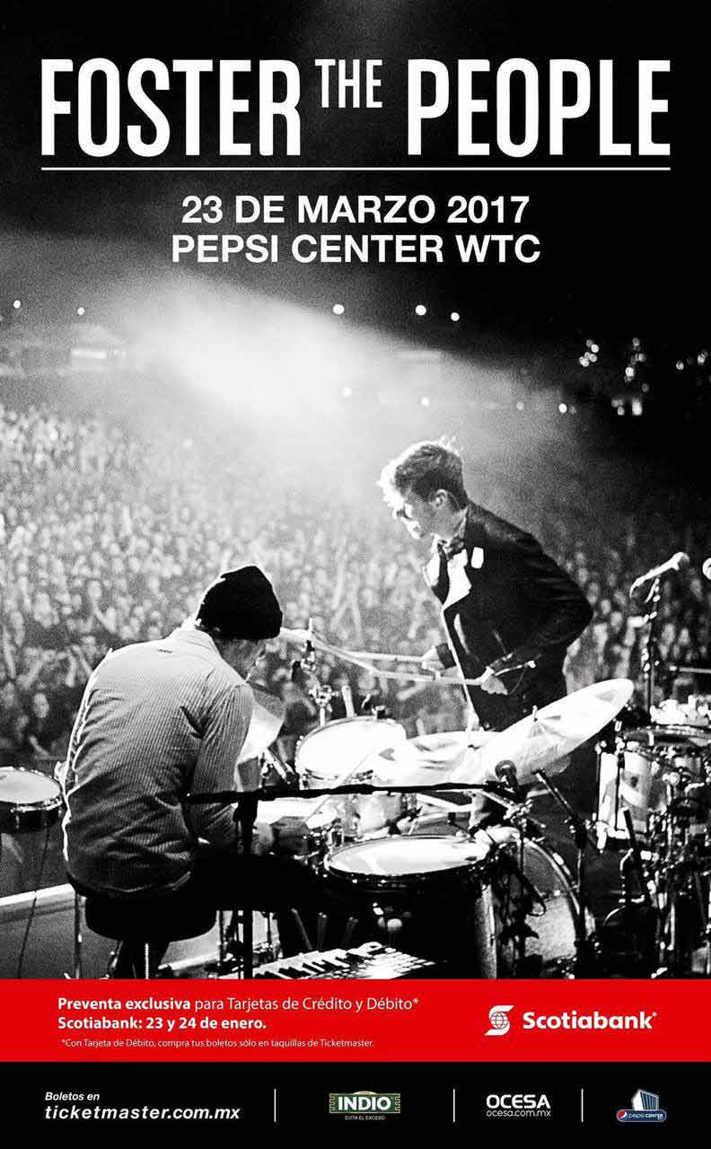 Póster oficial del show de Foster the people