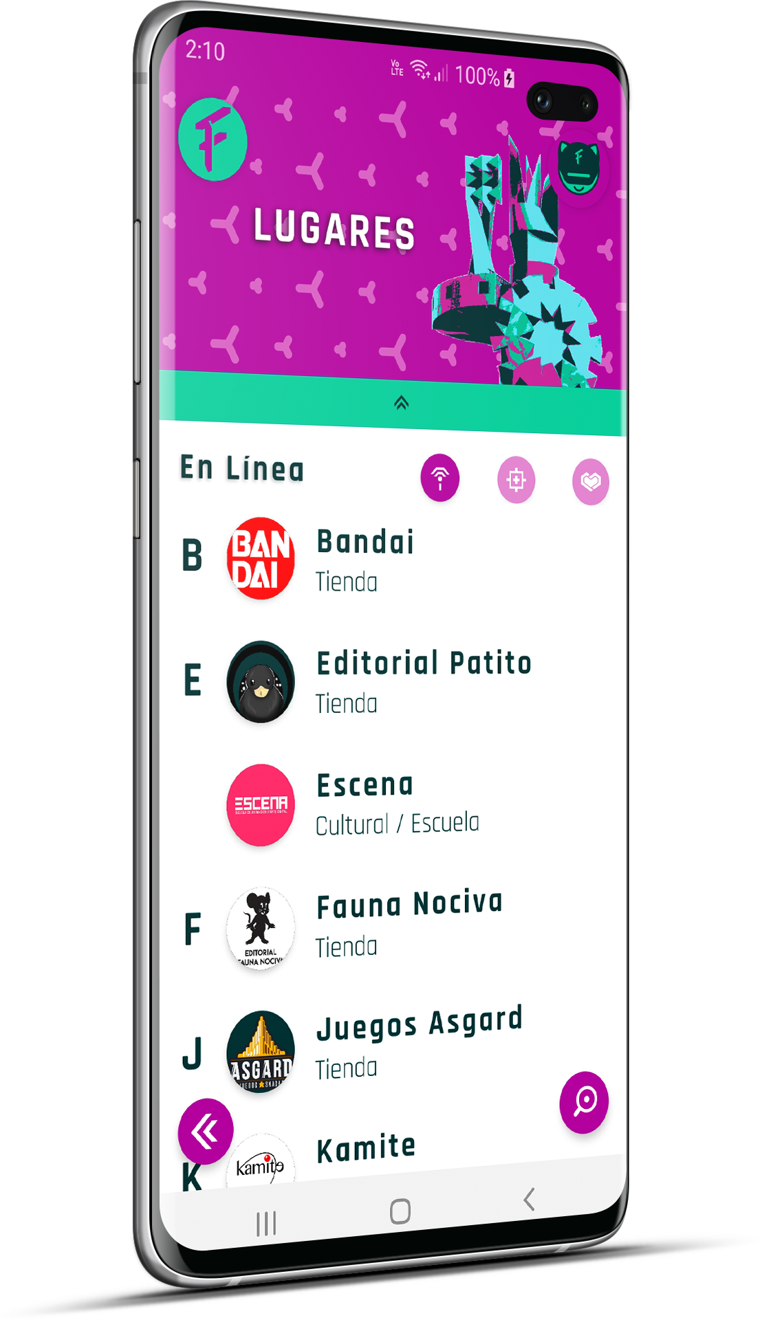 Frik-in app expande su sección de Lugares friki en apoyo a negocios Geek