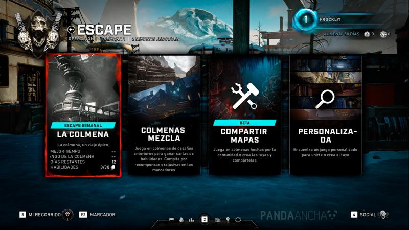 Gears 5 Modo Escape