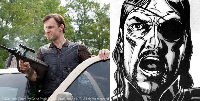 El Gobernador en la serie y cómic