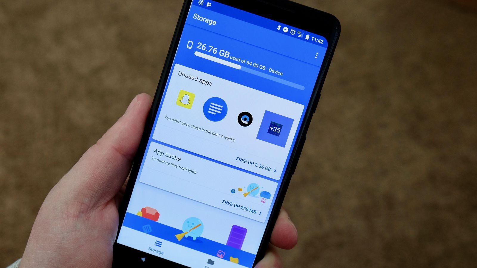 Espacio almacenamiento en Android