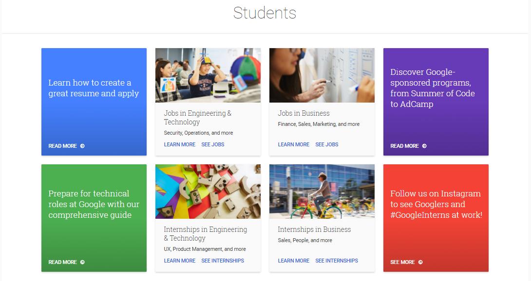 Programas de prácticas profesionales de Google