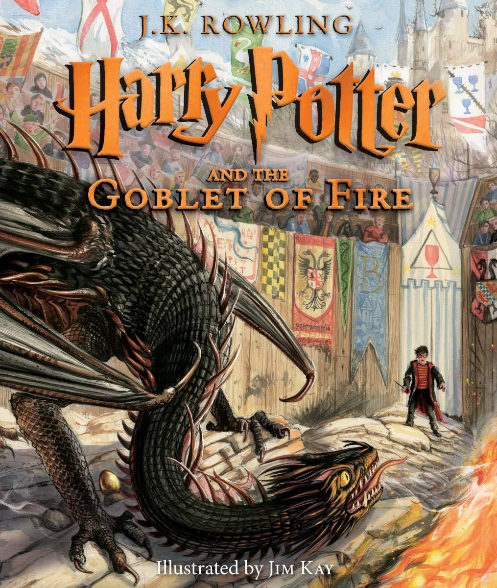 Harry Potter y el Cáliz de Fuego versión ilustrada en Amazon México.