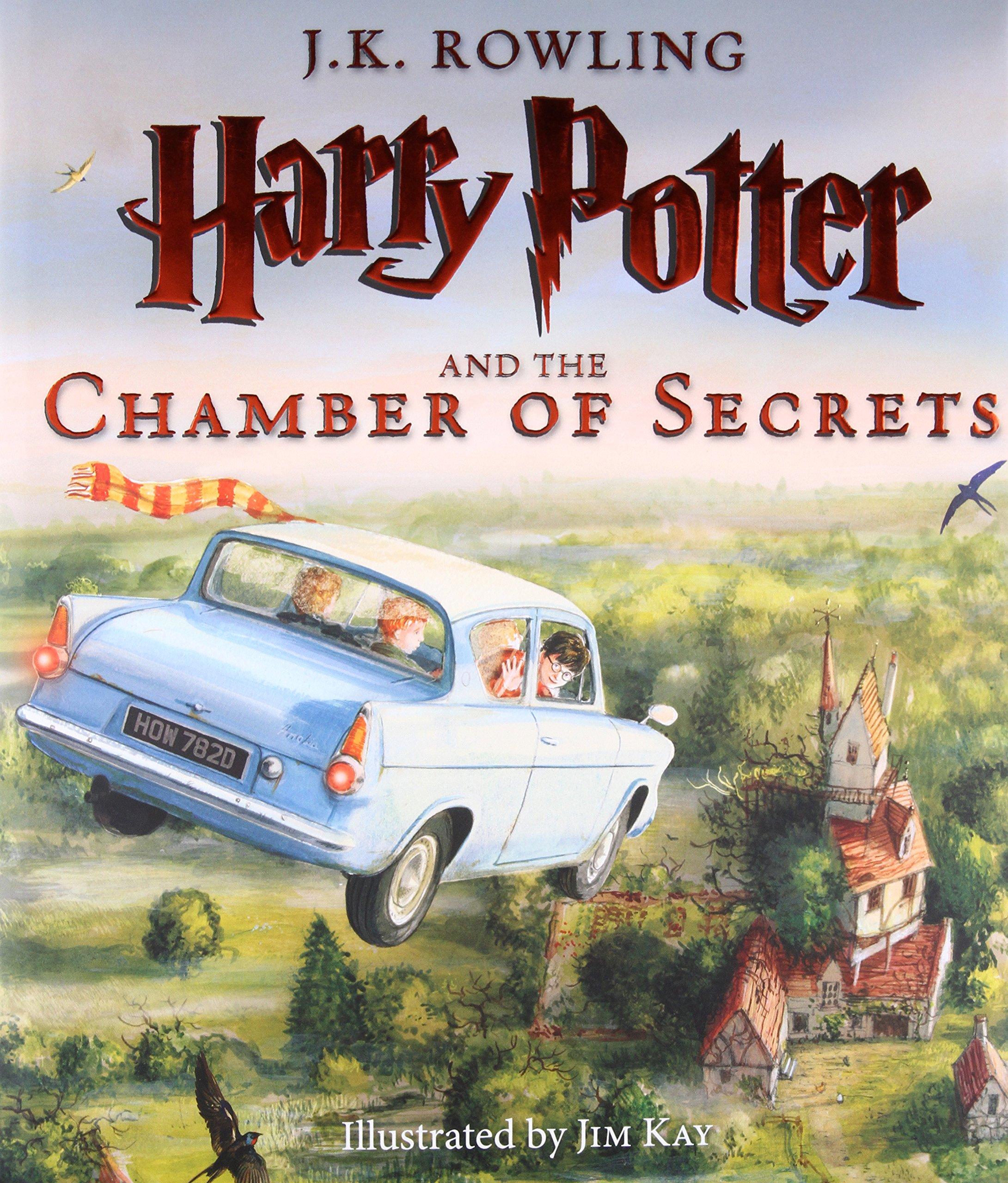 Harry Potter y la Cámara de los Secretos versión ilustrada en Amazon México.