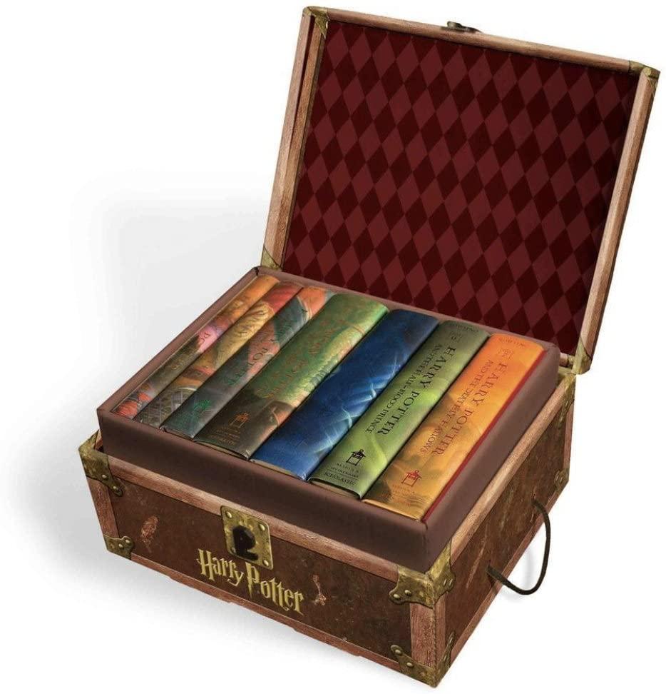 Juego de libros Harry Potter 1 a 7 en caja baúl.