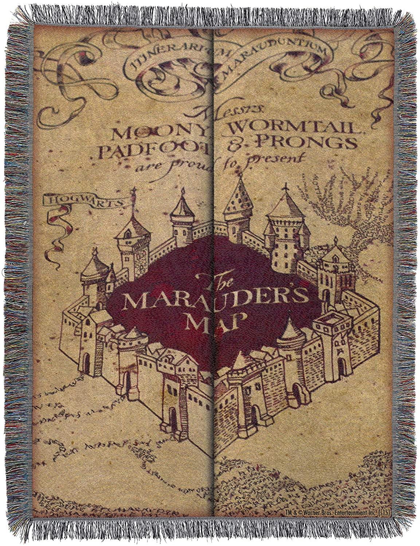Tapiz y Manta del Mapa del Merodeador de Harry Potter en Amazon México.