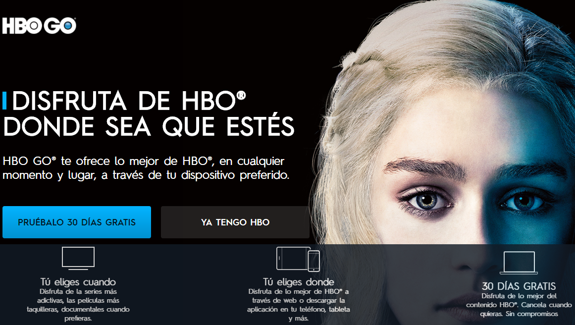 Screenshot de HBO Go en PC
