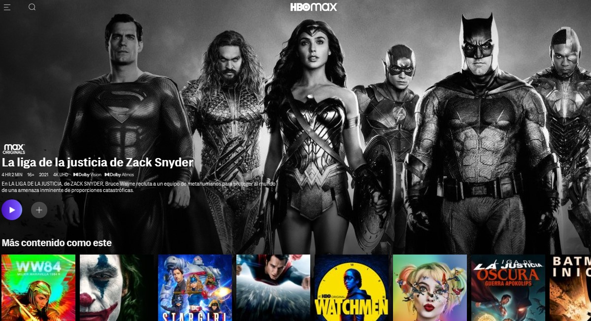HBO Max México: películas y series disponibles